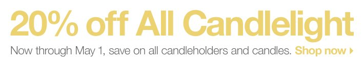 20% off All Candlelight