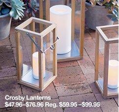 Crosby Lanterns $47.96-$76.96 Reg. $59.95-$99.95