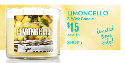Limoncello 3-Wick Candle - $15