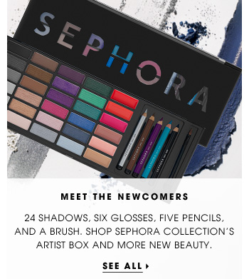 Meet The Newcomers. 24 shadows, six glosses, five pencils, and a brush. Shop Sephora Collection's Artist Box and more new beauty. See all