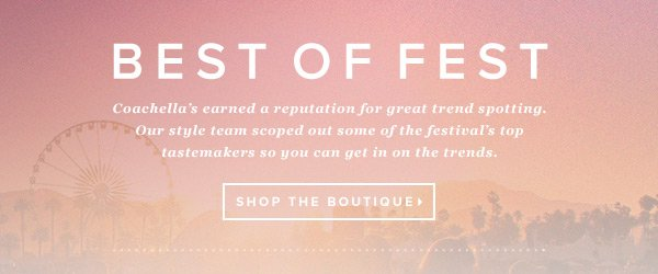 Best of Fest: Shop the Boutique