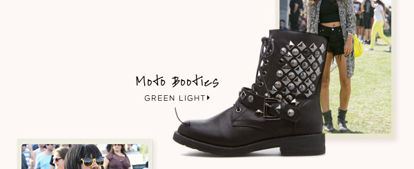 Moto Booties: Green Light