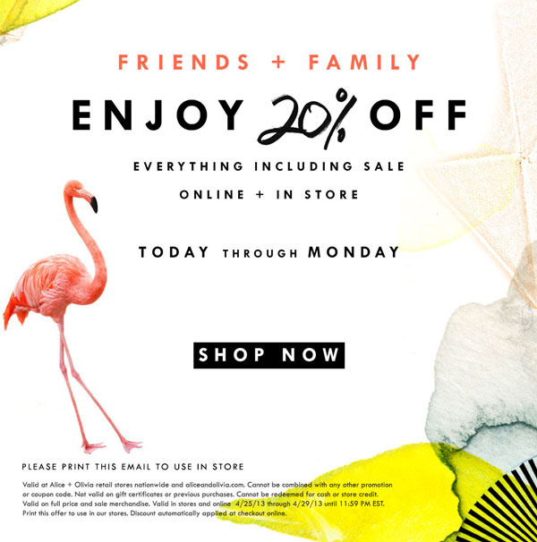 Shop Friends + Family Sale