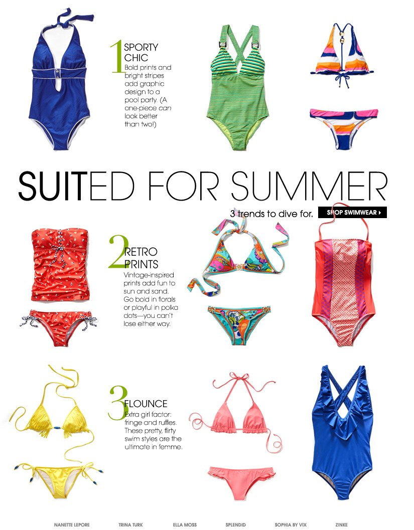 SUITED FOR SUMMER. SHOP SWIMWEAR.
