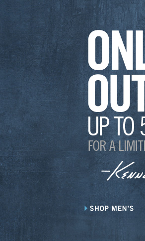ONLINE OUTLET UP TO 50% OFF FOR A LIMITED TIME ONLY. Kenneth Cole // SHOP MEN'S