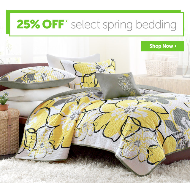 25% OFF* select spring bedding - Makeover your Bedroom for $75 or Less! - Shop Now