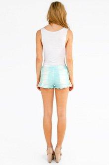 Corie Crochet Tie Dye Shorts $36