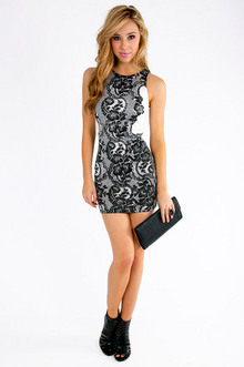 Jamila Lace Print Dress $32
