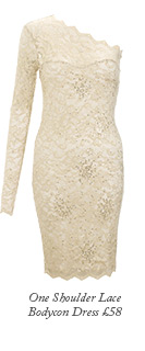 One Shoulder Lace Bodycon Dress
