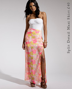Split Detail Maxi Skirt