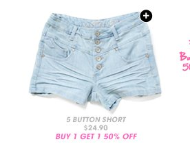 Shop 5 Button High Waist Short
