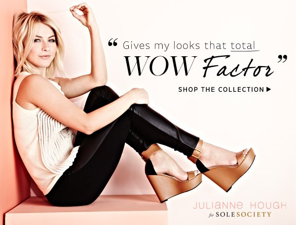 """""""Gives my looks that total wow factor"""" - Julianne Hough. Shop the Collection"""