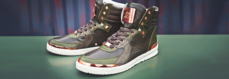 Shop J75 Bold Leather Sneakers