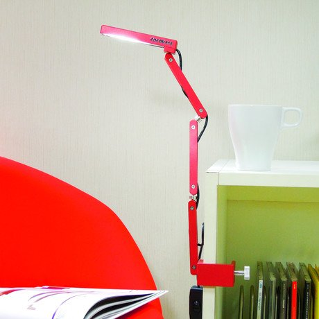 Toca Clamp Lamp // Red