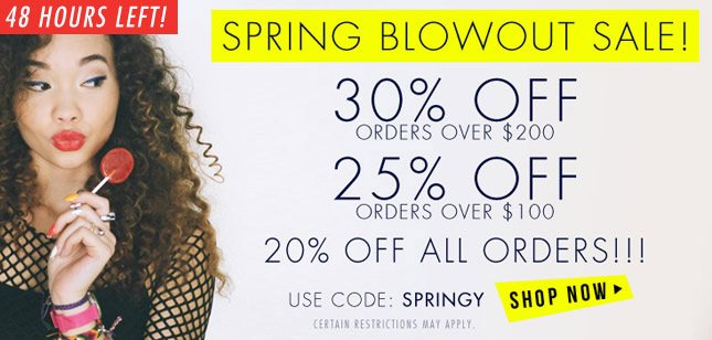 30% Off orders over $200