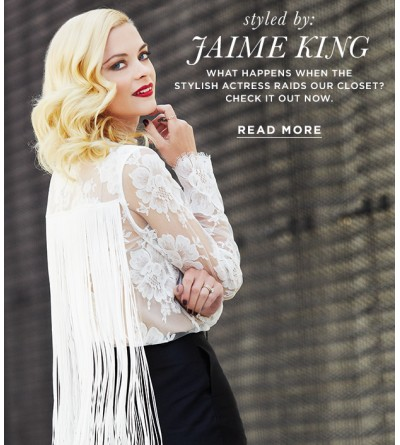 Actress Jaime King Visits The Who What Wear Closet