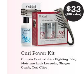 Curl Power Kit Climate Control Frizz Fighting Trio, Moisture Lock Leave-In, Shower Comb, Curl Clips