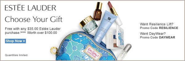 Estee Lauder Choose Your Gift. Free with any $35.00 Estee Lauder purchase.*** Worth over $100.00. Shop now.
