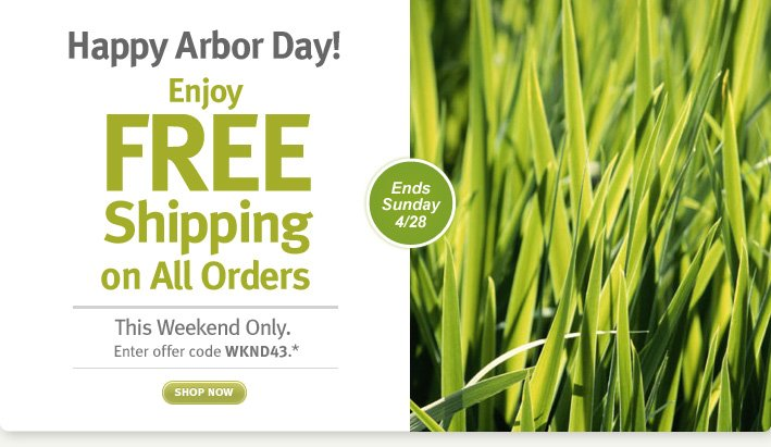 happy arbor day! Enjoy FREE Shipping on All Orders. shop now