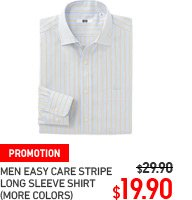 MEN EASY CARE STRIPE LONG SLEEVE SHIRT