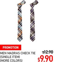 MEN MADRAS CHECK TIE