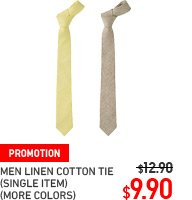 MEN LINEN COTTON TIE