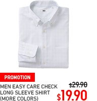 MEN EASY CARE CHECK LONG SLEEVE SHIRT