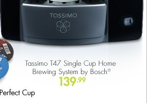 Tassimo T47 Single Serve Home Brewing System by Bosch® 139.99