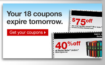 Your xx  coupons expire tomorrow. Get your coupons.