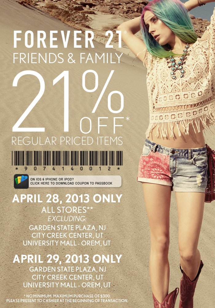Friends & Family 21% Off - In Store Only!
