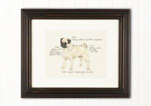 Hand-Colored Dog Prints