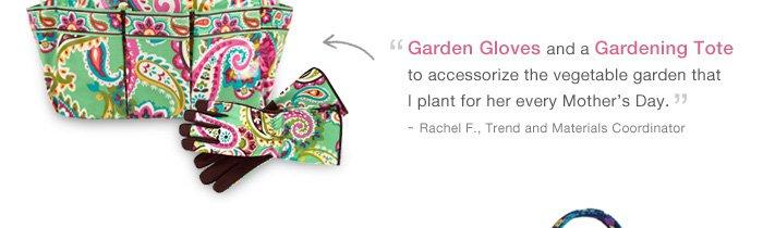 Garden Gloves and a Gardening Tote