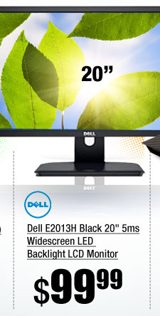 Dell E2013H Black 20 inch 5ms Widescreen LED Backlight LCD Monitor