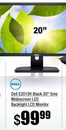 Dell E2013H Black 20 inch 5ms Widescreen LED Backlight LCD Monitor