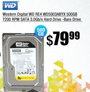 Western Digital WD RE4 WD5003ABYX 500GB 7200 RPM SATA 3.0Gb/s Hard Drive -Bare Drive