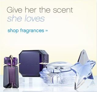 Give her the scent she loves. Shop fragrances.
