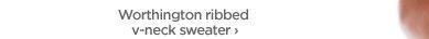 Worthington ribbed v-neck sweater›