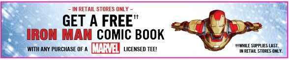 Free Iron Man Comic Book With Marvel Tee!