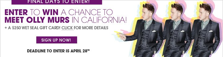 Sign Up For A Chance To Meet Olly Murs