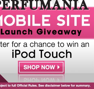 Mobile Site Giveaway, Enter To Win An iPod Touch