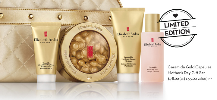 LIMITED EDITION. Ceramide Gold Capsules Mother's Day Gift Set $78.00 (a $133.00 value)