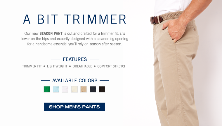 A Bit Trimmer. Shop our new Beacon Pant.