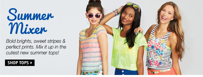 Summer Mixer - Bold brights,  sweet stripes & perfect prints.