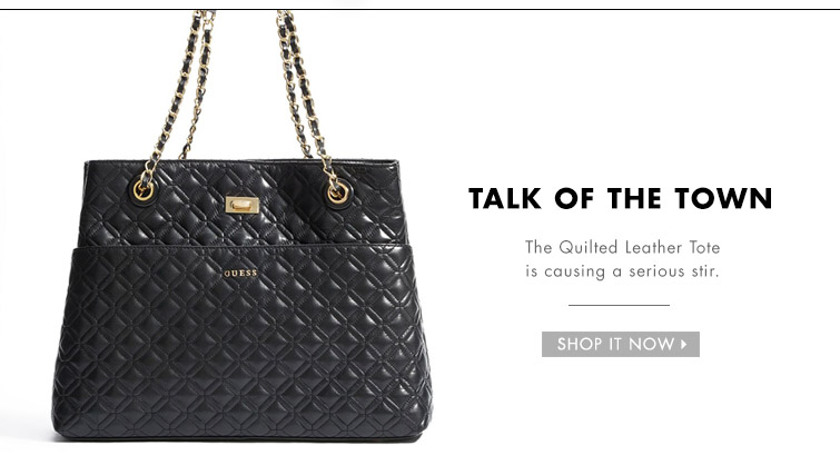 Shop the Quilted Leather Tote
