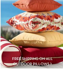 FREE SHIPPING ON ALL OUTDOOR PILLOWS