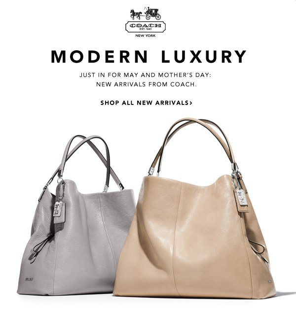 Modern Luxury Just in for May and Mother's Day: New arrivals from Coach. Shop all new arrivals.