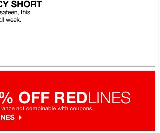 Take an EXTRA 60% off Redlines!