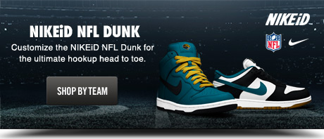 NIKEiD NFL DUNK | Customize the NIKEiD NFL Dunk for the ultimate hookup head to toe. | SHOP BY TEAM