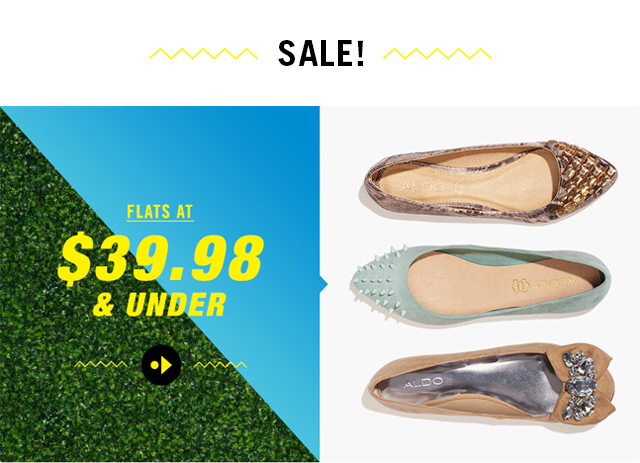 SALE! FLATS AT $39.98 & UNDER