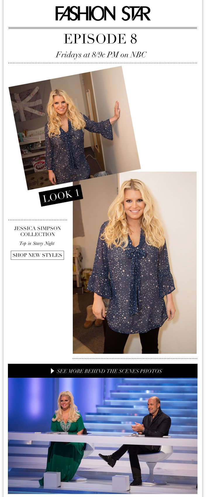 Jessica wears a top by Jessica Simpson Collection + 20% OFF Mother's Day Gifts ends Tuesday.